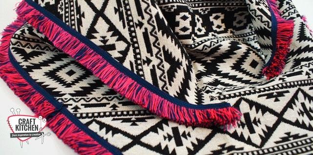 Helemaal Van Nu Sjaal Met Franjes In Multi Kleuren Craftkitchen