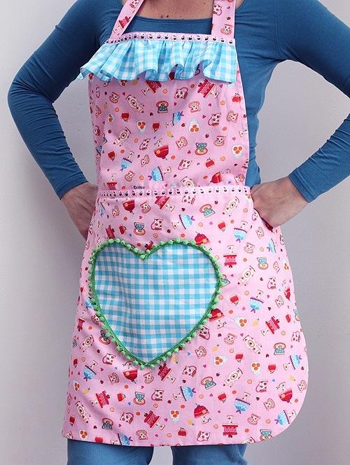 Maak zo u0026#39;n vrolijk keukenschort voor je moeder of oma    CraftKitchen