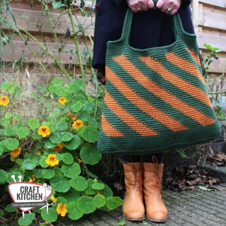 Winter-twist-gehaakte tas